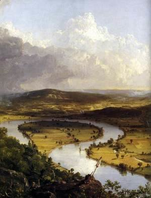 Thomas Cole - View from Mount Holyoke, Northamptom, Massachusetts, after a Thunderstorm (detail) 1836
