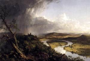 Thomas Cole - View from Mount Holyoke, Northamptom, Massachusetts, after a Thunderstorm (The Oxbow) 1836