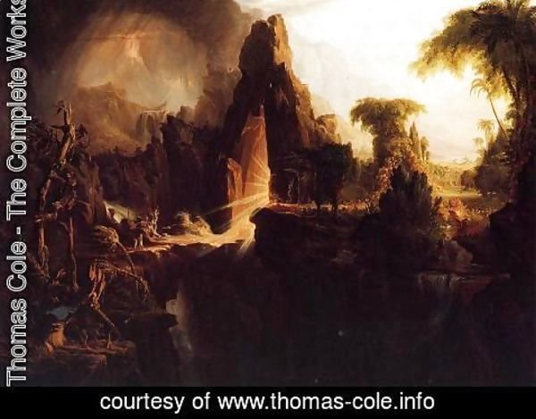 Thomas Cole - Expulsion from the Garden of Eden, 1828
